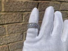 Iced Silver Plated Lab Diamond Round Cut Pinky Ring Size 7