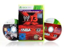 XBOX 360 Jeu The 2k sports collection-Nba 2k13, WWE 13-Sport allemand B