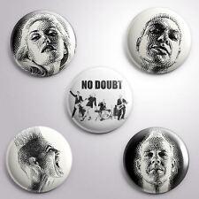 5 NO DOUBT -  Pinbacks Badge Button 25mm 1''*..