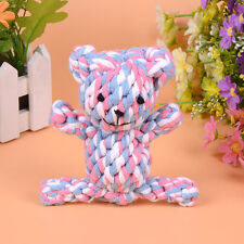 Cute Chew Knot Toy Bear Tough Strong Puppy Dog Pet Tug War Play Cotton Rope Toys