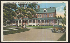 1930s Postcard Bath Ny/New York Military Home Hospital Building