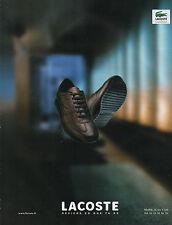 Publicité 2000  LACOSTE basket chaussure collection mode pret à porter