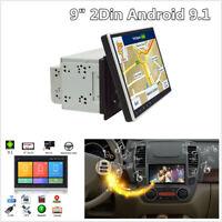 "9"" Double 2 Din Android 9.1 Car Stereo DAB Radio GPS SAT NAV WiFi Mirror Link BT"