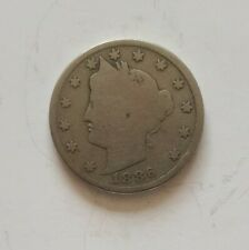 1886 Key Date Liberty Head USA 5 Cent Coin