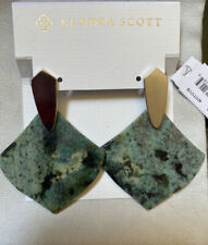 New Kendra Scott Astoria Statement Earrings African Turquoise $80.00