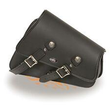 Right Side PVC Heavily Slanted Swing Arm Bag w/ Interior Gun Pocket for Harley's