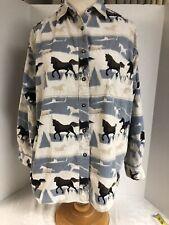 Bridle and Bit Ladies XL cotton courderoy equestrian burron front l/s shirt