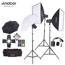 Professional Photography Lighting kit Studio Softbox Umbrella Light Stand X9Y4