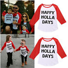 Happy Kids Toddler Baby Boy Girl Xmas Family Long Sleeve T-shirt Tops Clothes