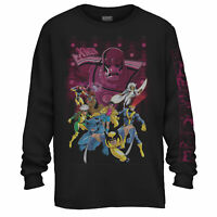 X-Men 90's Sentinel Attack Marvel Officially Licensed Adult Long Sleeve T Shirt