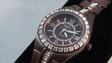 Relic women's copper tone copper & MOP dial crystal bezel qtz watch ZR11800