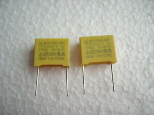 470 nF 0,47 µF MKP  275 V AC K X2  Polypropylen Folien Kondensator ( 2Stck.)