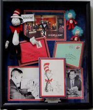 """*RARE* Dr. Seuss Hand Signed Display W/ Props From The """"Grinch"""" Movie PAAS COA"""