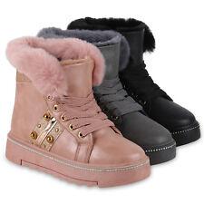 Damen Stiefeletten Winter Boots Warm Gefütterte Outdoor 824514 Schuhe