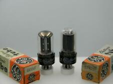 """Two GE 6AX5GT NOS NIB Black Plates Side """"O""""/Top """"D"""" Getter Serious Tubes H313"""