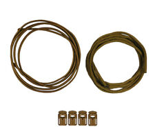5col Attachenator Kit Coyote ITW Cordlocs Shock Cord and Mil Spec 550 Paracord