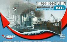 GERMAN TORPEDO BOAT V-106 W/PE PARTS (KAISERLICHE MARINE MKGS) 1/400 MIRAGE