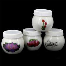 Ceramic Nail Art Acrylic Liquid Cup Plastic Lid Manicure Tools (Random Pattern)