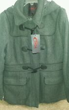 Yoki Outerwear Collection,  Grey Lined Coat with hood