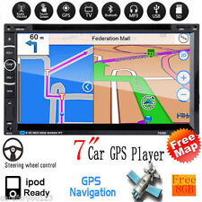 """7"""" Touch Double 2Din GPS Navi HD Car CD Player Radio Stereo FM/AUX Bluetooth New"""
