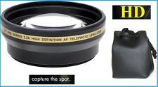 For Fujifilm X-T1 X-T10 XE2 X-E2 X-E1 XE1 New Hi Def 2.2x Telephoto Lens