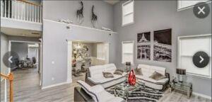Contemporary White & Grey Leather Living Room Sofa Se