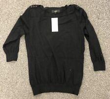 New Next Ladies Pullover Black UK12 Cotton Nylon