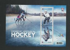 2017 5253c The History of Hockey Souvenir Sheet of 2 Canadian Version WAG MNH