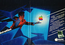 PUBLICITE ADVERTISING 035  1982  APPLE   informatique ordinateurs  (2 pages)