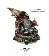 "Red Dragon with LED Lighting  5"" Figurine - ZEM      WE SHIP WORLDWIDE"