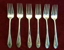 Lot of 6 Gorham MEREDITH 18/8 Stainless Salad Forks