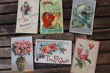 30014 6 alte Postkarten AK Geburtstag Glückwunsch Blumen Blüten um 1915