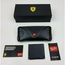 Ray Ban Brand New Ferrari Scuderia Sunglasses Case + Cleaning Cloth & Gift Box