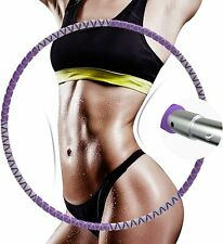 Detachable Fitness Hoop 8 Removable Sections Exercise Hoop Weight Adjustable