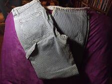 Womens Gap Carpenter Jeans Size 10 Blue/White Pinstripe 100% Cotton