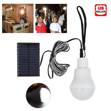 Solar Panel Power 12 LED Bulb Lights Rechargeable Outdoor Camping Tent Lamp USA