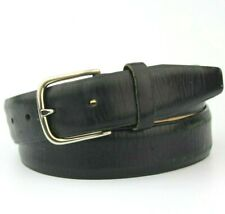 """Manieri Black Leather Belt Made in Italy Size 90/105cm 32"""""""