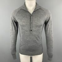 FIFTH AVENUE SHOE REPAIR Size S Dark Gray Knitted Wool Blend Pullover