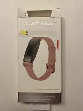 Platinum- Leather Band for Fitbit Inspire and Inspire HR - Pink OPEN BOX