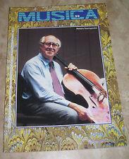 RIVISTA MUSICA N.39 - MSTISLAV ROSTROPOVICH - DICEMBRE 1985 (MU1)