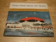 """The Triumph Of Man 1965 7"""" 33 RPM Red Record New York World's Fair EX Booklet"""