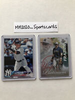 Clint Frazier Lot (2) 2018 Topps RC Rookie & 2017 Bowman Refractor PP-CF Yankees