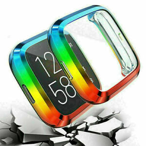 For Fitbit Versa 2 Multicolor TPU Full Protector Protective Frame Case Cover