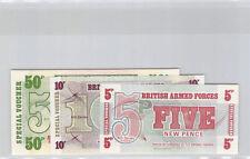 Royaume-Uni 50, 10, 5 Pence 1972