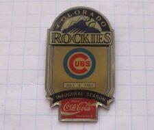 COCA-COLA / MLB COLORADO ROCKIES / CHICAGO CUBS   ... Baseball Pin (135k)