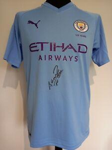 Manchester City Man City Home Shirt Signed Sergio Aguero