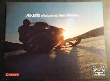 VINTAGE RARE FRENCH 1973 ALOUETTE  SNOWMOBILE SALES BROCHURE 12 PAGE  (461)
