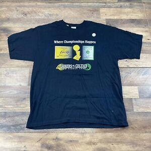 NWT Boston Celtics vs Lakers 2008 08 NBA Finals T Shirt Tee Gildan MEN'S XL