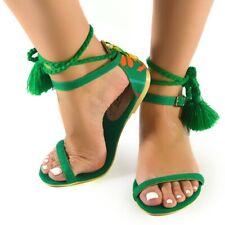 Peyolt Mexican Green Flat Sandals