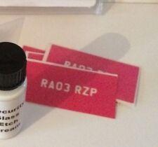 REG TAG - Car Number Plate - Extra Stencil Set